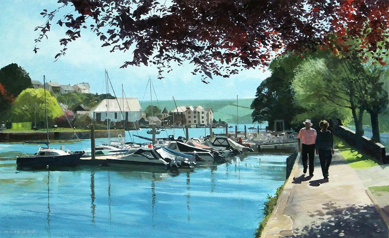 Devon-Landscape-Painting-Gerry-Miles-The-New-Pontoon-at-Kingsbridge.jpg