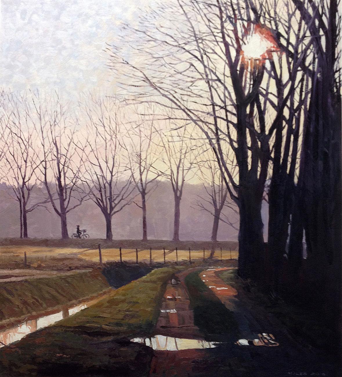 Dutch-Landscape-Painting-Gerry-Miles-Fietsen-langs-de-Gagellaan.jpg