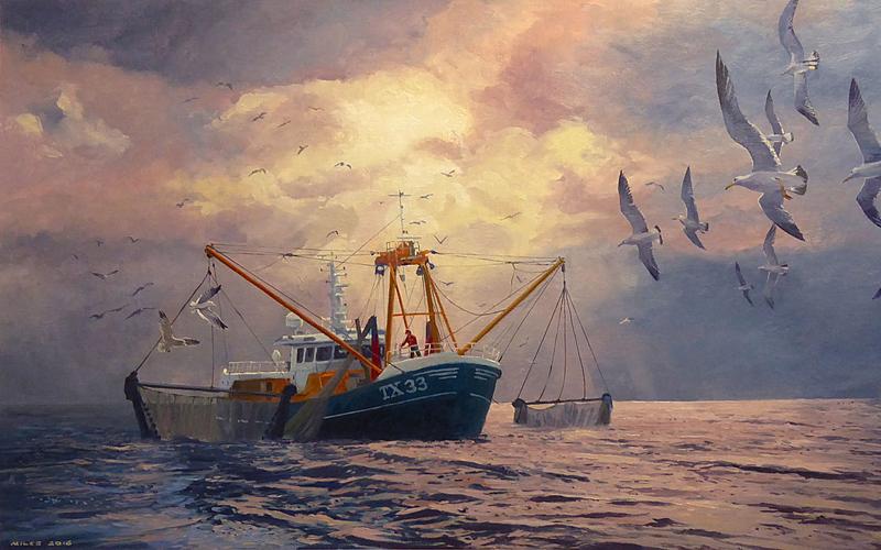 Trawler TX33 Hauling in the nets