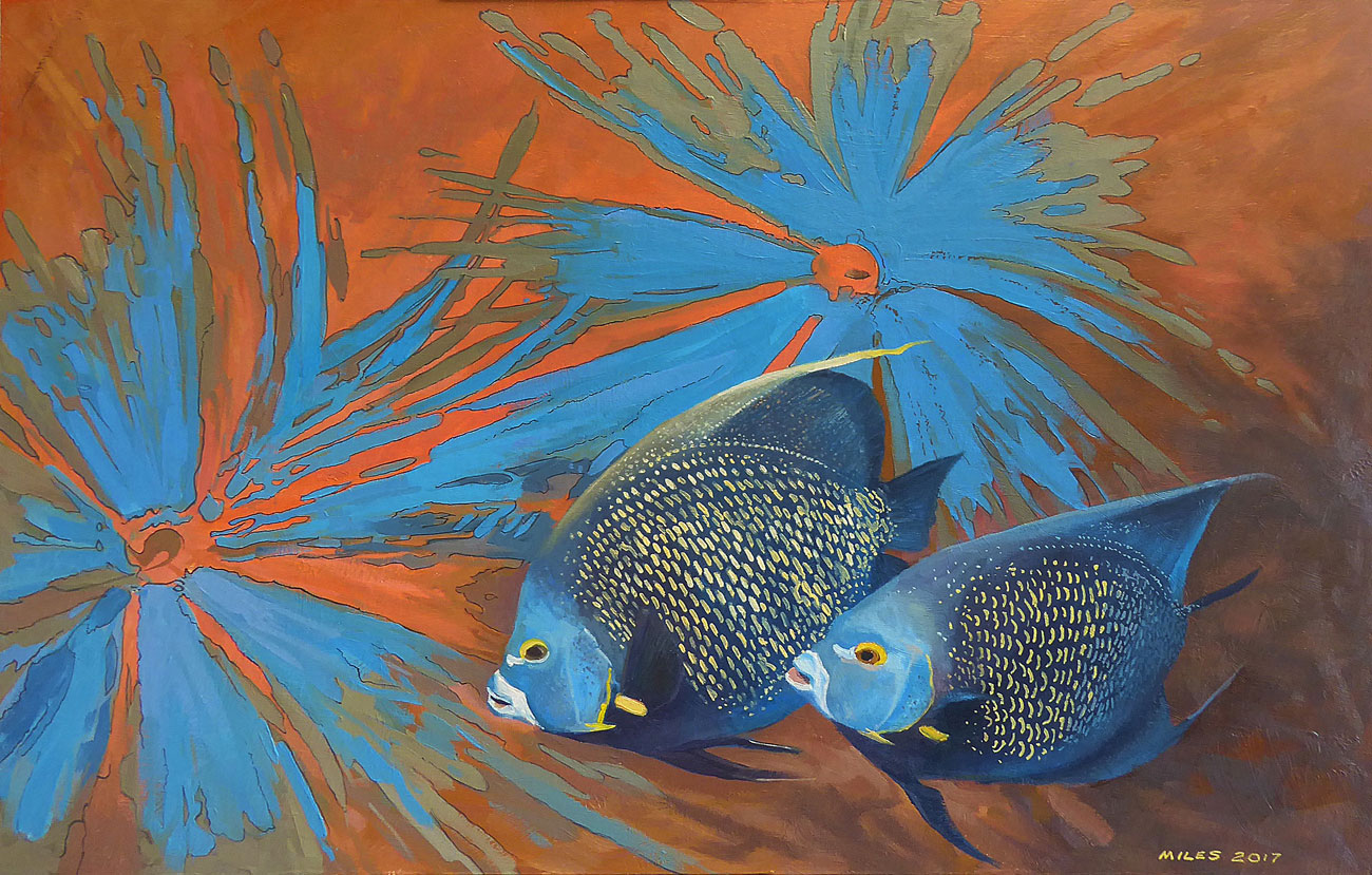 Underwater-Painting-Gerry-Miles-French-Angel-Fishes.jpg