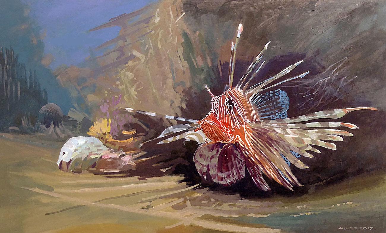 Underwater-Painting-Gerry-Miles.-Lionfish.jpg