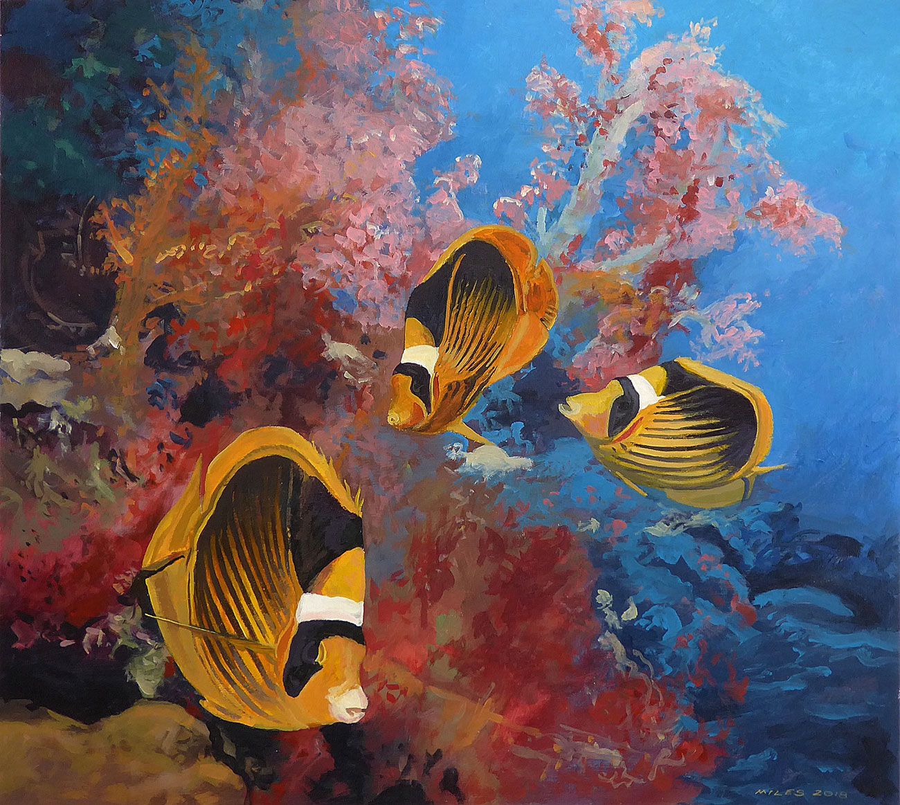 Underwater-Painting-Gerry-Miles-Racoon-Butterflyfishes-and-soft-coral.jpg