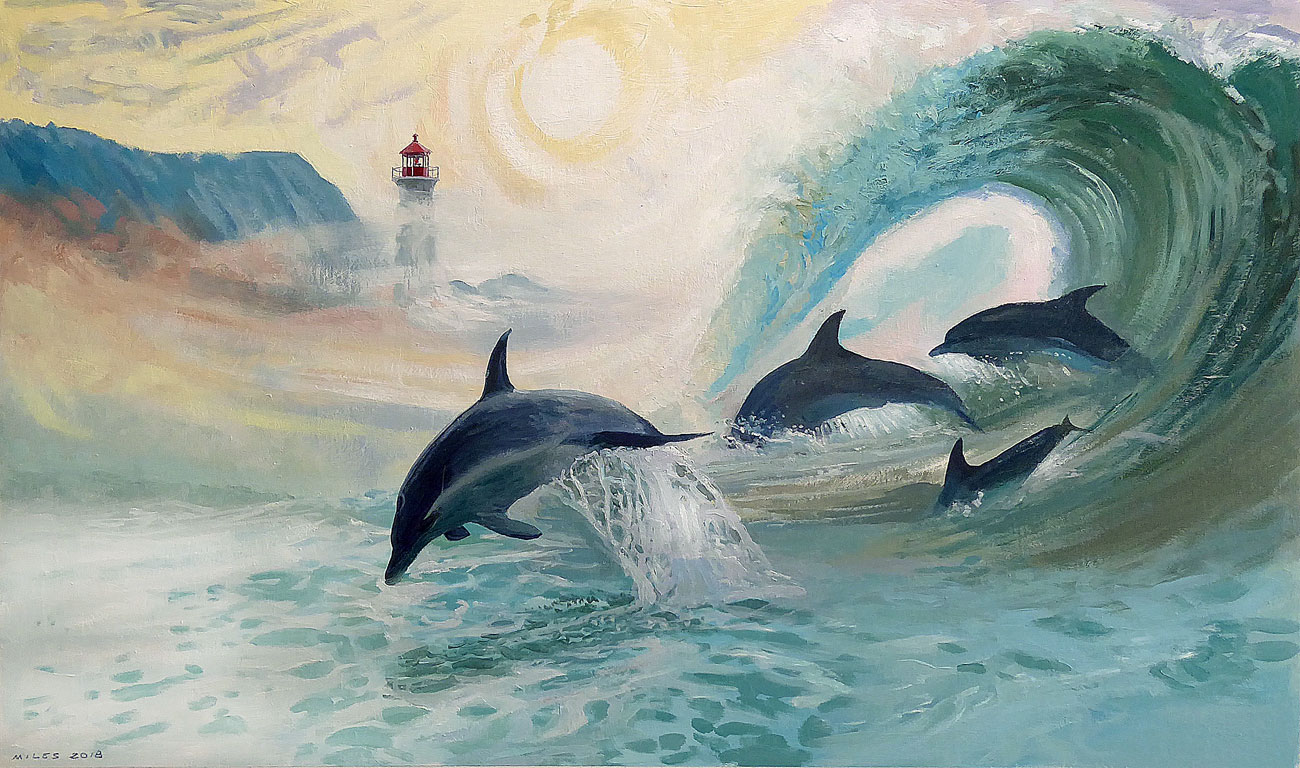 Underwater-painting-gerry-miles-Dolphins-in-the-surf.jpg