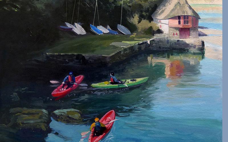 Kayakers at Bantham