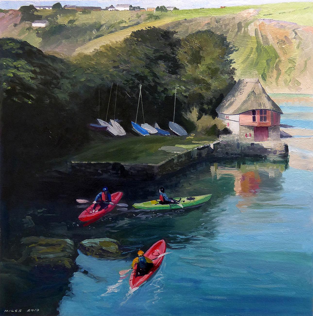 Devon-Landscape-Painting-Gerry-Miles-Kayakers-at-Bantham.jpg
