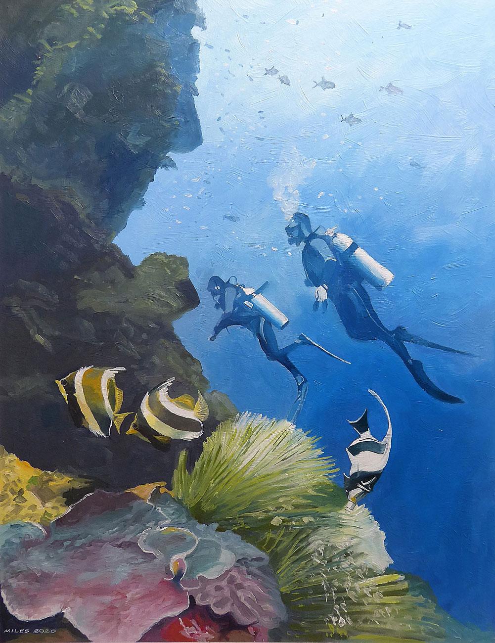 Diving the wall in Bunaken National Marine Park