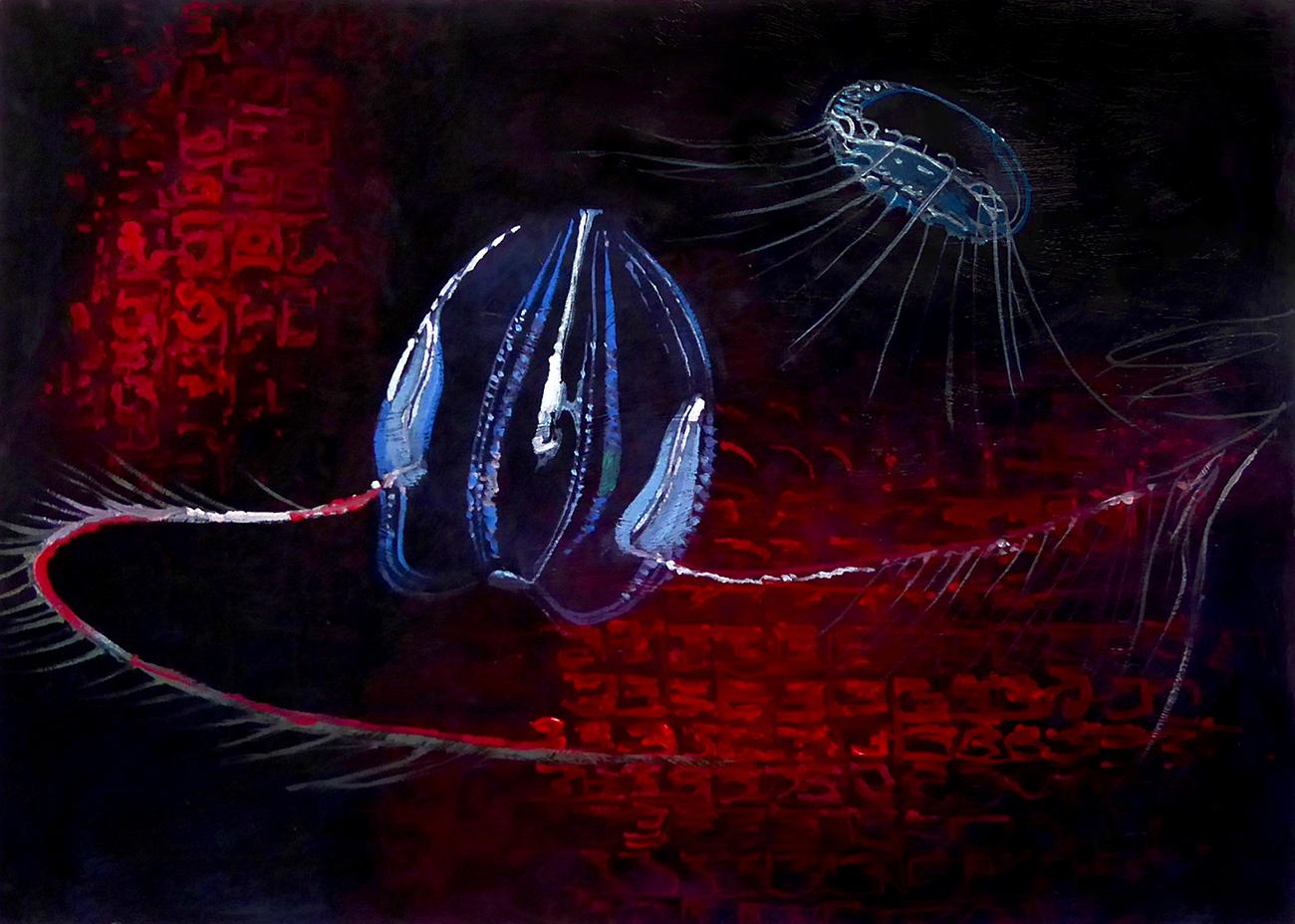 Many deep sea creatures produce bioluminescent light.